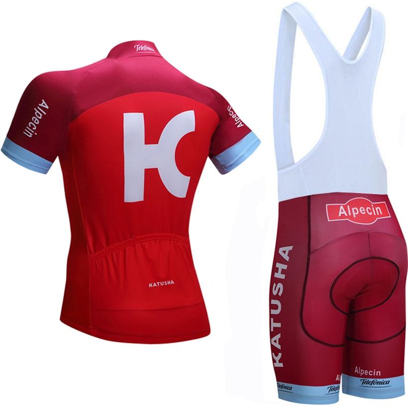 цена на 2018 KATUSHA Cycling Clothing Bike jersey Quick Dry Mens Bicycle clothes summer team Cycling Jerseys gel bike shorts set
