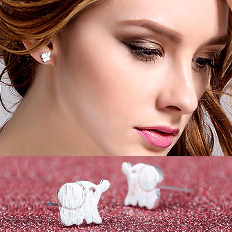 19 עגילי כסף לב חמוד קטן זעיר אופנה סגנון חדש עבור מתנות בנות נשים המפלגה עגיל אלגנטי פשוט