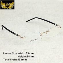 جديد وصول الرجال نمط بدون إطار نظارات الرجال الموضة حجم صغير النظارات العلامة التجارية تصميم الإطار البصري للرجال نظارات