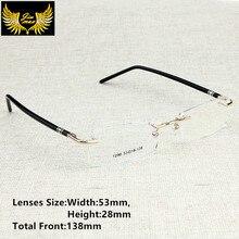 ใหม่มาถึงผู้ชายสไตล์ Rimless แว่นตาแฟชั่นผู้ชายขนาดเล็กแว่นตาออกแบบแบรนด์กรอบสำหรับชายแว่นตา
