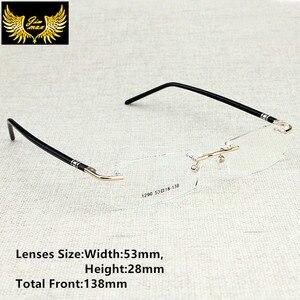 Image 1 - Yeni Varış Erkekler Tarzı Çerçevesiz Gözlük Moda erkek Küçük Boy Gözlük Marka Tasarım Optik Çerçeve erkek Gözlük