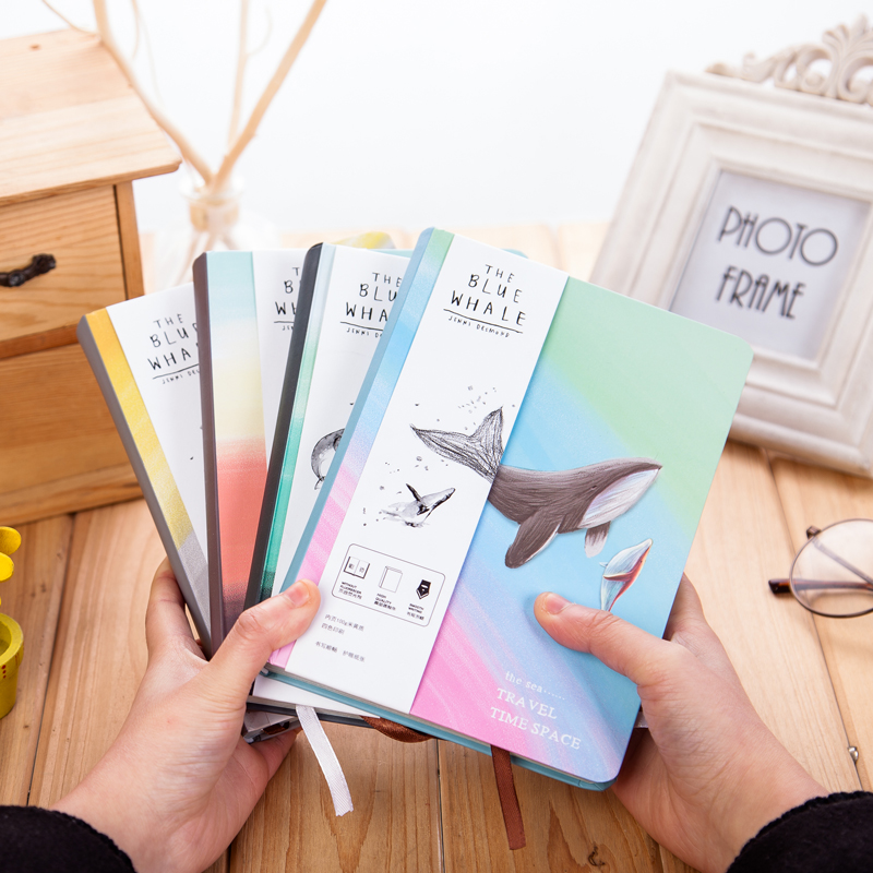 Travel time space Notebook Cute Color pages diary agenda Graffiti a5 planner filofax notebooks Office school supplies stationery color block knit dolphin shape blanket throw for baby