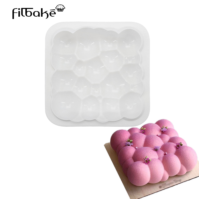 FILBAKE 3D DIY Chocolate Baking White Silicone Cloud Shaped Mousse Cake Mould Dessert Decorating Tools