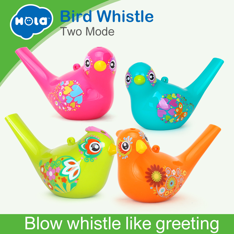 2pcs/Lot New Creative Painting Bird Whistle Wind Instrument Infant Early Childhood Educational Musical Instrument Toys Xmas Gift