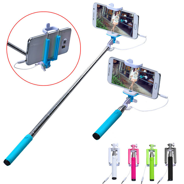Handheld Camera Selfie Stick For Iphone 6 6S Plus 5 5S For Samsung Galaxy S4 S5 S6 S7 Edge Monopod Mini Self Pole Tripod Monopod