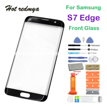Front Glass For Samsung Galaxy S7 Edge G935 LCD Touch Screen Front Outer Glass Lens Replacement With Set Tool стоимость