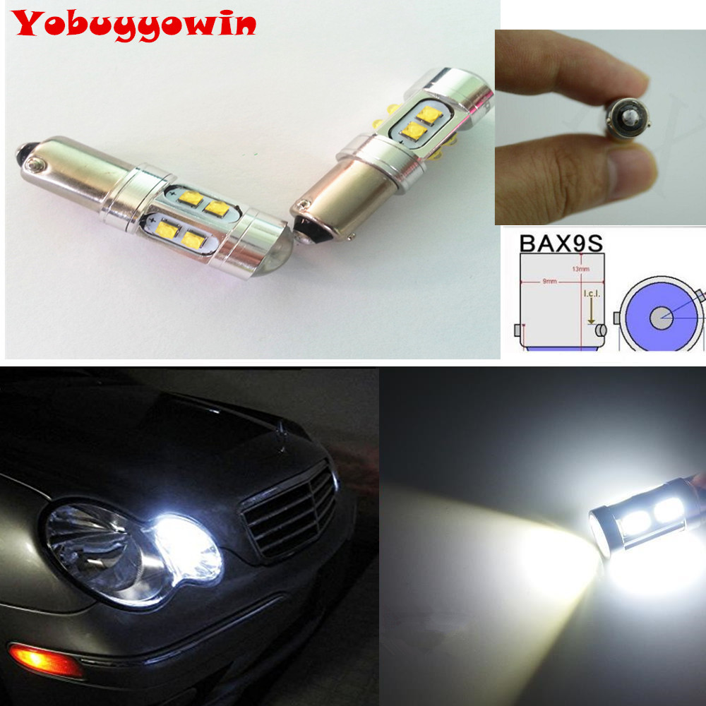 2x Xenon White Error Free <font><b>LED</b></font> BulbS <font><b>H6w</b></font> <font><b>BAX9S</b></font> <font><b>H6W</b></font> 10*5W Cree Chips Parking Lights For Mercedes E W208 W210 W215 Audi