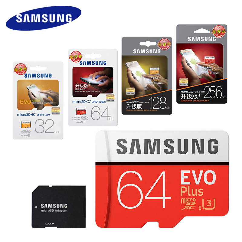 SAMSUNG 100Mb/s Microsd Card 128GB 64GB 32GB 256GB Memory Card Class10 U3 Flash TF Micro SD Card for Phone with Mini SDHC SDXC