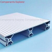 Произвольная мм Резка 40240 мм 1000 алюминиевый экструзионный профиль, серебристый цвет.