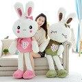 80 см Симпатичные любовь вышивка Кролик Детские Мягкие Плюшевые Игрушки Плюшевые высокое качество Кролик Мягкие Игрушки Лучший Подарок для Детей
