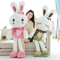 80cm Cute love embroidery Rabbit Baby Soft Plush Toys Plush high quality Rabbit Stuffed Toys Best Gift for Kids