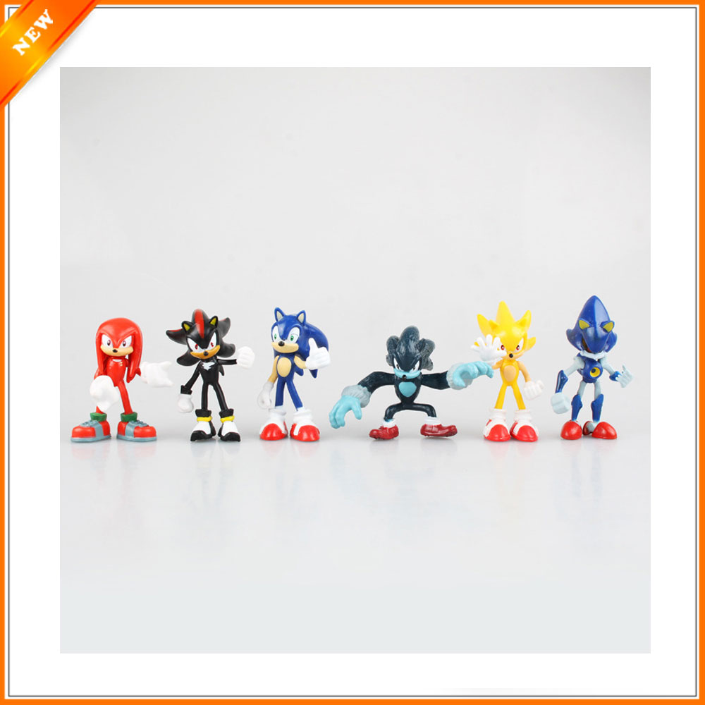 6pcs/lot Sonic Boom Rare Dr Eggman Shadow PVC Toys Action Figures ...