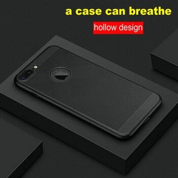 Pour Apple iPhone 5 s SE 5 6 6 s 7 Plus Étui 360 Mat Boîtier En Plastique Dur Mince Creux Retour Housse De Téléphone étuis pour iPhone 8 Plus X