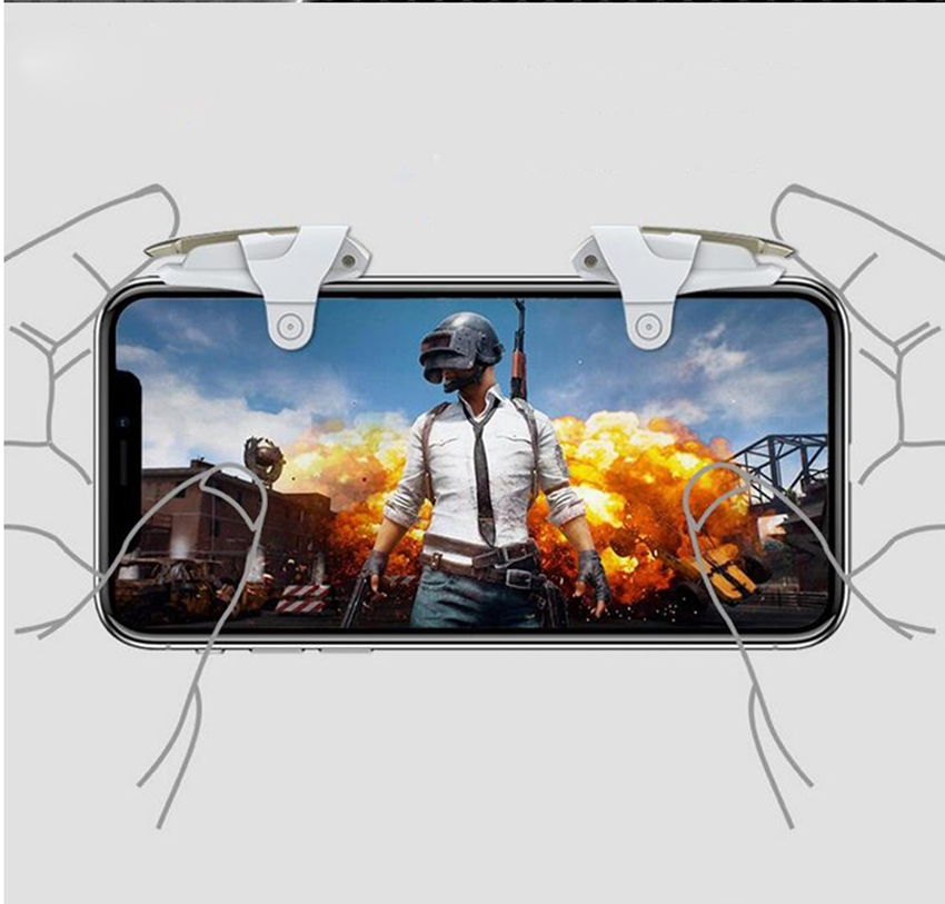 Newest PUBG Mobile Game Controller Trigger keyPads Aim Button L1R1 Shooter Joystick For iPhone Android Phone Gamepad Accesories