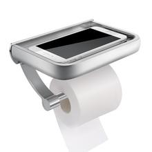 Homemax настенный держатель для туалетной бумаги алюминиевый держатель тканевой бумаги туалетный рулонный дозатор с держателем для хранения телефона для ванной комнаты