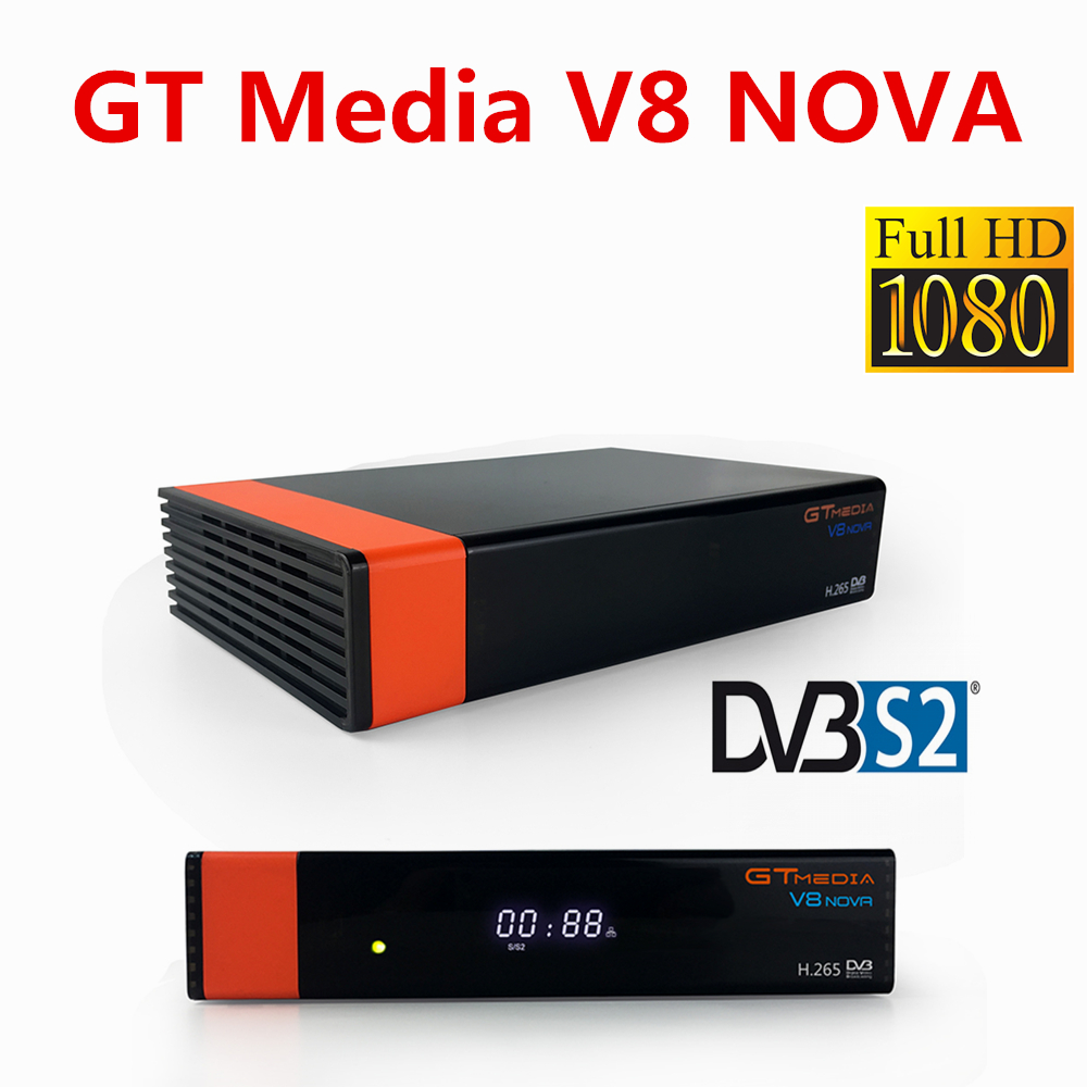 V8 NOVA receiver satellite Full HD decoder Built-in wifi support H.265 DVB-S2 Powervu Youporn with Spain Germany Poland tv original 1pc v8 golden 1080p full hd dvb s2 dvb t2 dvb c digital satellite tv receiver support youtube powervu iptv usb wifi