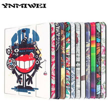 Tab 2 A10 30 Colorful Print Leather Case Cover for Lenovo Tab 2