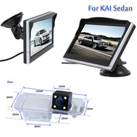 2 in 1 Car Rear view camera for KIA For Rio Sedan with 5Colorful TFT LCD Auto Digital Monitor Sucker Bracket Radio RCA INPUT