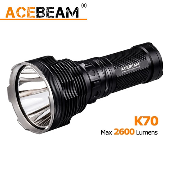 ACEBeam K70 2600 lumen CREE XHP35 LED Flashlight Camping Torch Use 4x 18650 Battery Throw 1300meters Light Gear 1000 lumen cree xml t6 led flashlight 501b hunting camping flash light tactical torch by 18650 battery gun mount tail switch