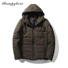 Bumpybeast Fashion black Parka 5XL Jacket Men 2017 Brand New Hooded Casual Mens Winter Jacket Windbreaker Thick Warm Coats H26
