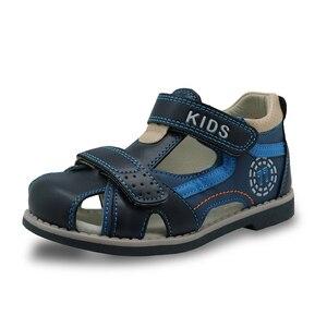 Image 4 - Apakowa Sandalias de goma con punta cerrada para niños, zapatos ortopédicos de verano con soporte para arco, a la moda