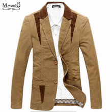 Mwxsd Brand mens casual blazer suit men cotton blazer cultivating mens leisure blazer suits tide blazer big Asian size M-6XL