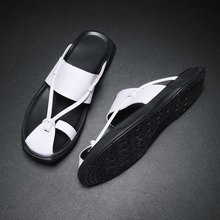 2019 New Summer Leather Simple Men Sandals Luxury Brand High Quality Genuine Fashion C4