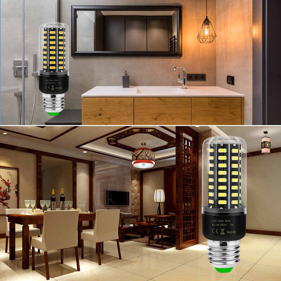 High Brightness LED Bulb E27 E14 220V High lumen No Fiker Led Corn Bulb 3.5W 5W 7W 8W 12W 15W Led Lamp Corn light Luz led A1