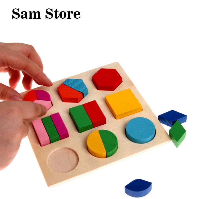 Forma geométrica colorida rompecabezas bebé niños aprendizaje de - Juegos y rompecabezas