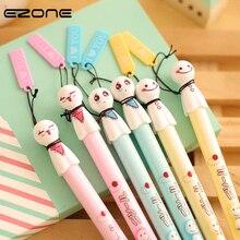 EZONE Cute Cartoon Gel Pen Cute Face Pens 0.38 Black Refills  Material Escolar Kawaii Stationery Canetas School Office Supplies стоимость