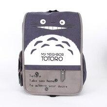 Японская Мода Прекрасный Тоторо Рюкзаки Для Женщин Мультфильм Печати Путешествия Колледжа Опрятный Стиль Холст Рюкзаки Для Девочки-Подростка