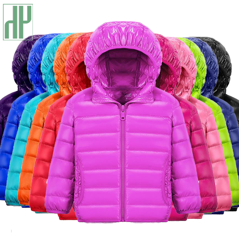 купить HH children jacket Outerwear Boy and Girl autumn Warm Down Hooded Coat teenage parka kids winter jacket 2-13 years Dropshipping по цене 941.77 рублей