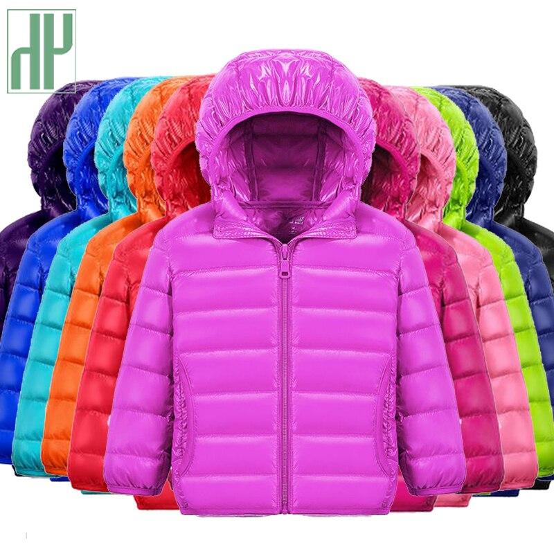 HH niños chaqueta abrigo niño y niña otoño caliente abajo Abrigo con capucha adolescente parka niños invierno chaqueta 2-13 años Dropshipping
