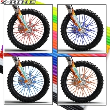 72 PCS Motorcycle Dirt Bike Enduro Off Road Rim Wheel spoke skins For honda crf 450 CR CRF 125 250 500 KTM KAWASAKI YAMAHA BMW