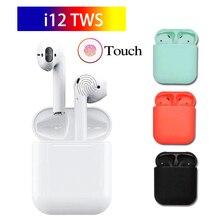 2019 I12 Tws Bluetooth 5,0 наушники-вкладыши беспроводные наушники-вкладыши с сенсорным управлением стерео Air pods гарнитура для всех телефонов