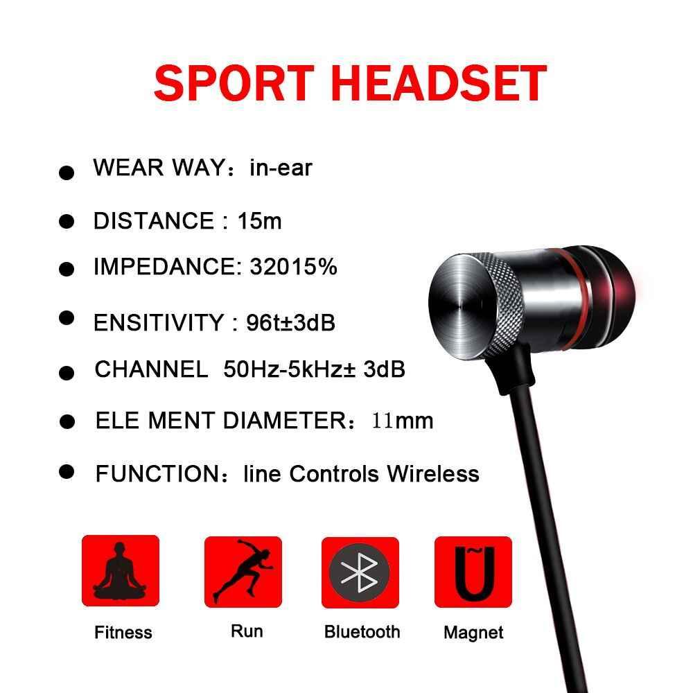 Wysokiej jakości sg & a bezprzewodowa Bluetooth słuchawki z pałąkiem na kark słuchawki sportowe z mikrofonem słuchawki bezobsługowy zestaw słuchawkowy słuchawka do iPhone'a Samsung