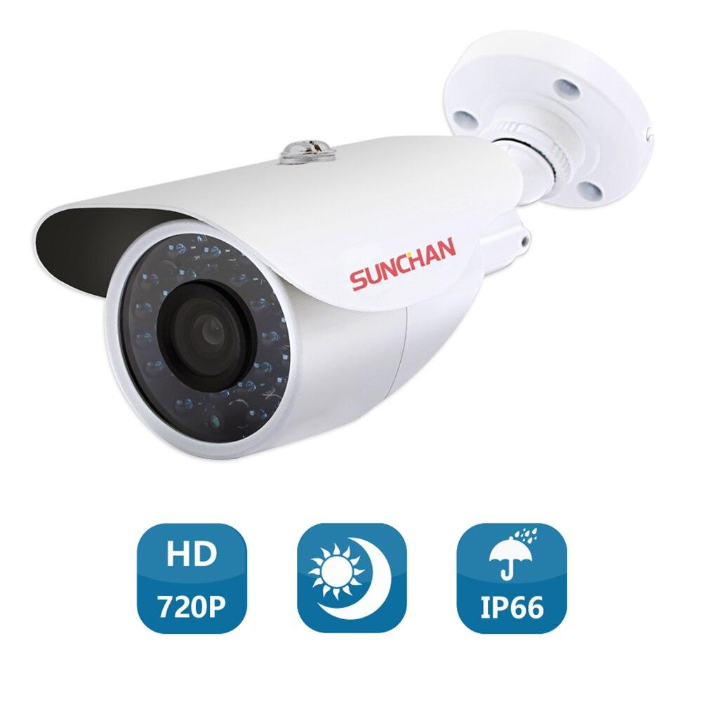 SUNCHAN CCTV Camera CMOS 1200TVL IR Cut Filter 1.0MP AHD Camera 720P Outdoor Waterproof Bullet Security Camera For AHD DVR