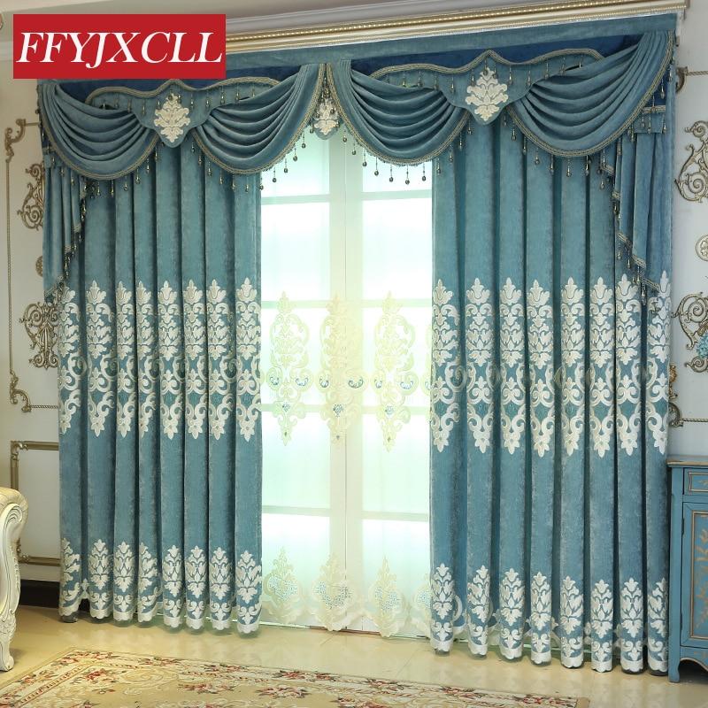 Home Decor Visokokakovostne vezene luksuzne zavese okna za dnevno - Domači tekstil