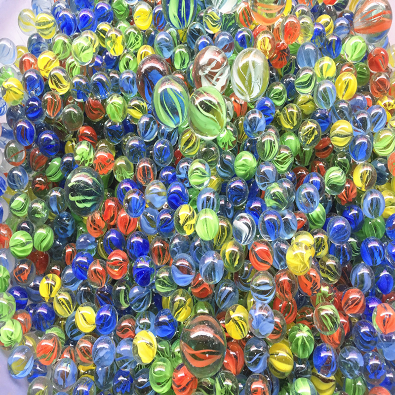 100% Brand New And High Quality. Big Size 25MM 20pcs + 14MM 20pcs Glass Marbles Glass Bead Marbles Children's Toys