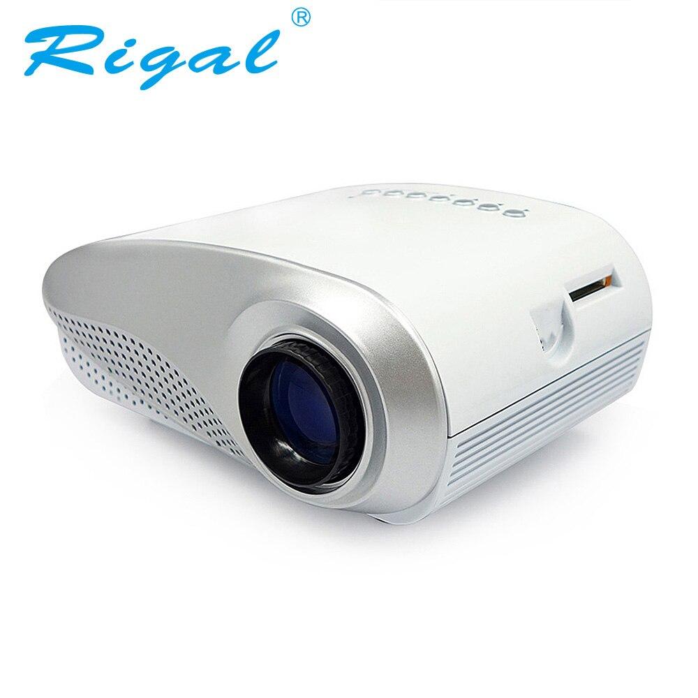 Проектор Rigal, RD802, классический светодиодный мини проектор, 200 люмен, видеопроектор для просмотра видео на домашнем кинотеатре, наилучший под...