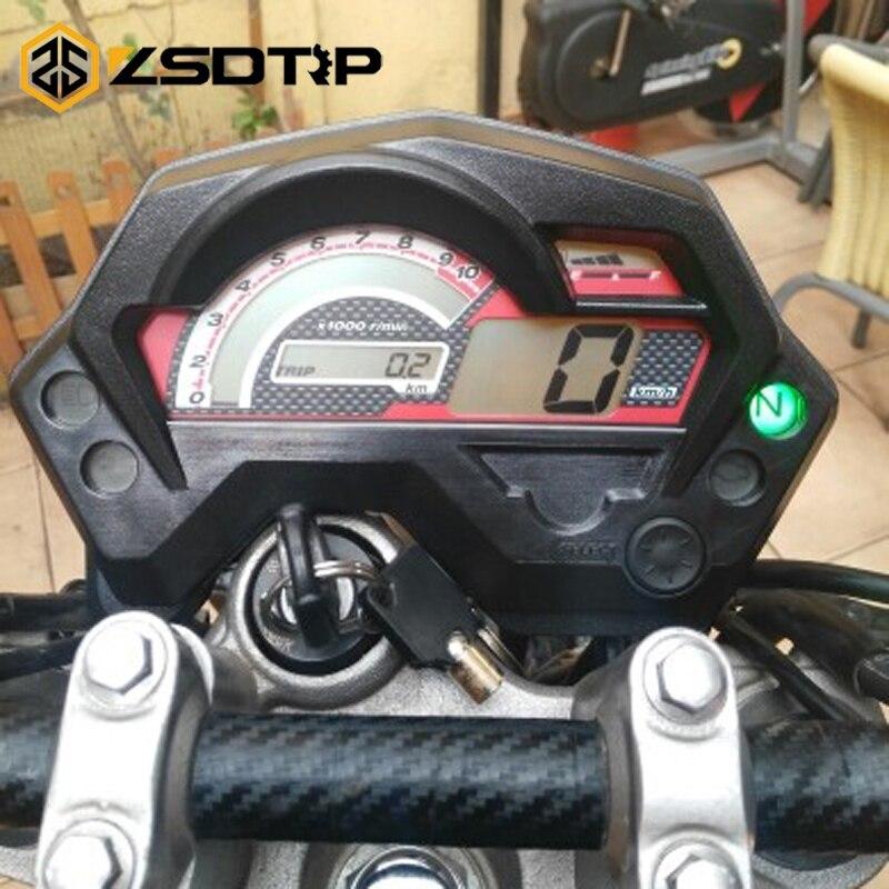 ZSDTRP Motorcycle LCD Display Digital Tachometer Speedometer Meter With Luminous used for Yamaha FZ16 Motorcross Accessories