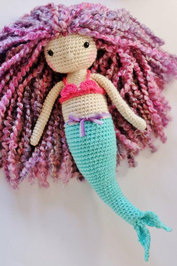 Mia the Mermaid- Crochet Amigurumi Doll Pattern - PDF download ... | 855x570