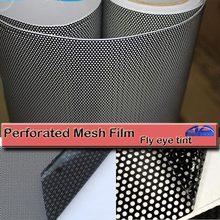 Черный One Way Vision Fly Eye Tint перфорированная сетчатая пленка для автомобиля tint Window Tint автомобильная пленка для обертывания наклейка для мотоцикла и скутера наклейки