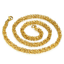 "Trendy Long Gold Chain For Men/Women 20"" 23"" 26"" 30"" Gold Color Stainless Steel Thick Crown Chain Necklace Colar Male Necklaces(China)"