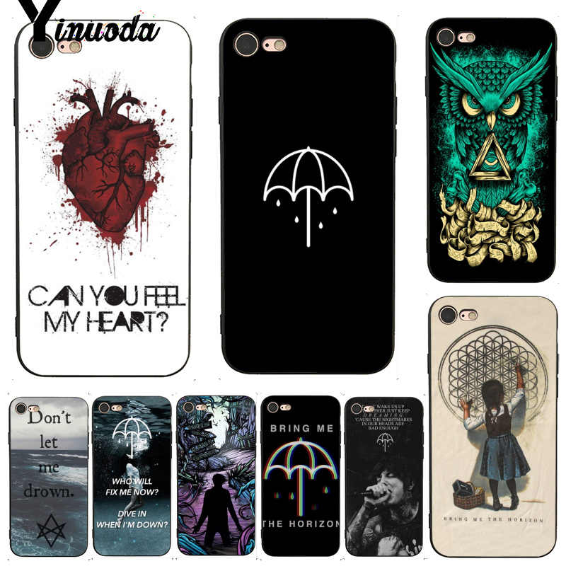Yinuoda For iphone 7 6 X Case Bring Me the Horizon BMTH Topmost Phone Accessories Case for iPhone 7 6 X 8 6s Plus 5 XS XR