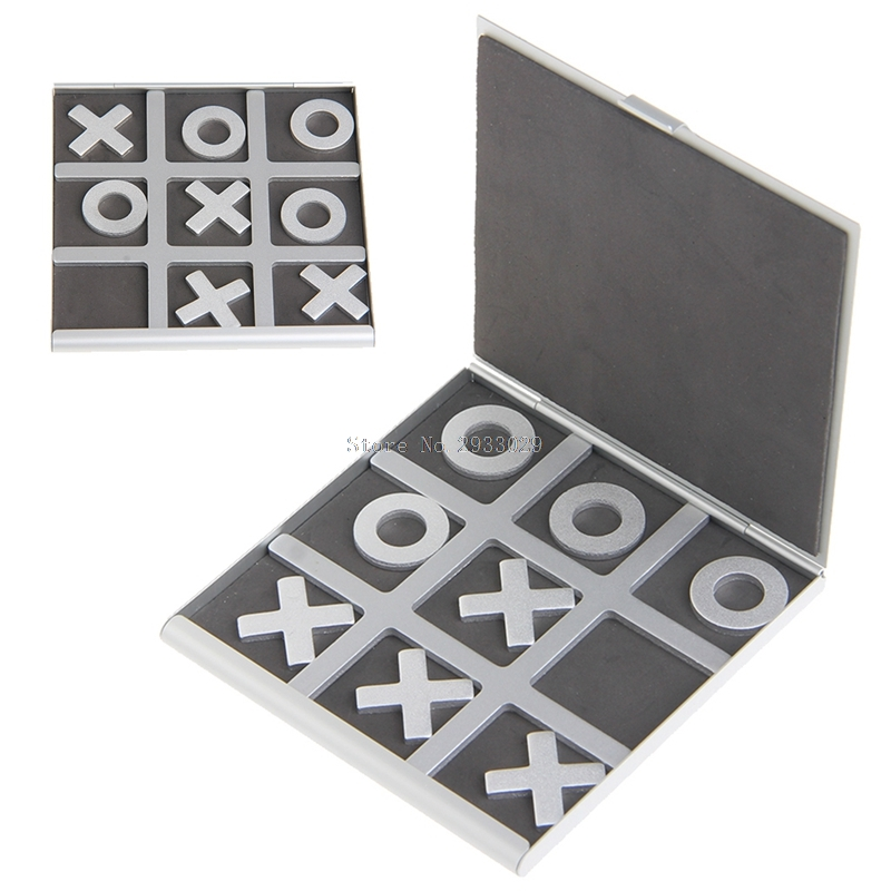 Tic Tac Toe Game X O Games Noughts and Crosses Board Aluminum Folding Toy Gift -B116 tic euv400 wps