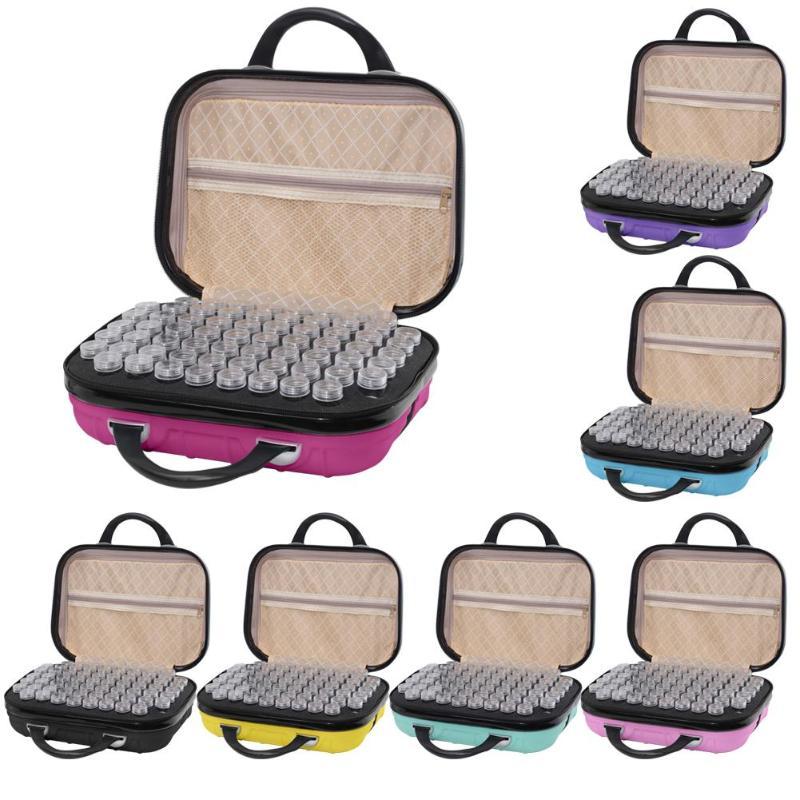 Sac de transport Portable 132 bouteilles diamant peinture boîte de rangement boîtier perle conteneur broderie sac à main ménage sac de rangement outil