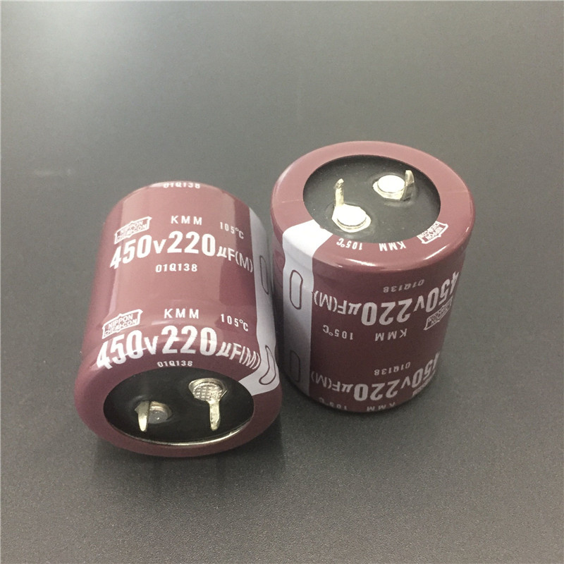 2pcs 220uF 450V Original NCC KMM Series 30x35mm 450V220uF PSU Aluminum Electrolytic Capacitor