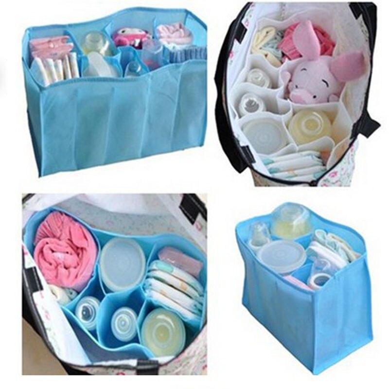 цена HOT Baby Diaper Nappy Water Bottle Changing Divider Storage Organizer Bag Liner