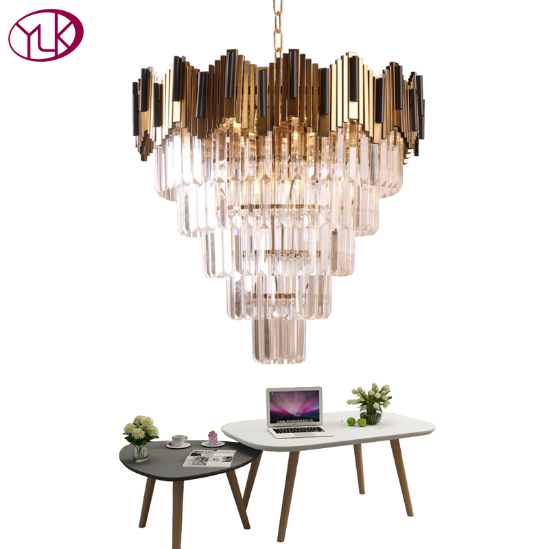 Youlaike Luxury Modern Crystal Chandelier For Living Room Luxury